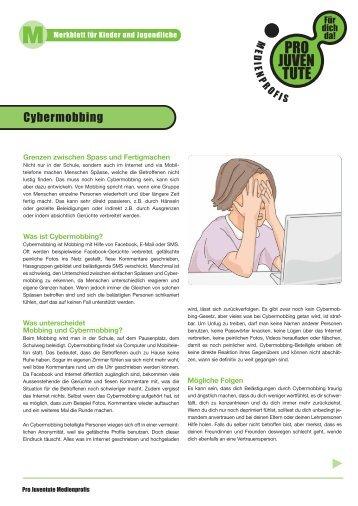 Cybermobbing - Merkblatt für Kinder und Jugendliche - Pro Juventute