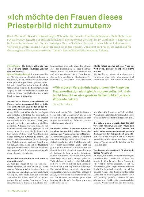 «Ich möchte den Frauen dieses Priesterbild nicht ... - Pfarrei Steinach