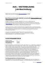 AUS- / WEITERBILDUNG Job-Beschreibung