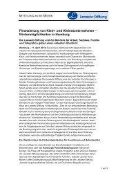 Presseerklärung - Lawaetz-Stiftung