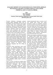 analisis import container dwelling time di pelabuhan peti ... - FTSL-ITB