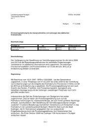 Der Verlängerung der Gewährung von ... - Stuttgart