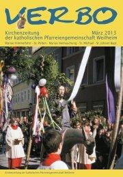 Kirchenzeitung März 2013 der katholischen Pfarreiengemeinschaft ...