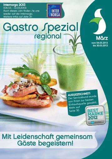Gastro Spezial Regional - März 2013 - Recker Feinkost GmbH