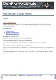Facebook für Unternehmen - Fanpage Design für Ihr Marketing bei ...