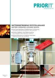 batteriebetriebene feststellanlage - Roth - Brandschutz- und ...