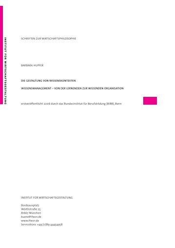 wissensmanagement - Institut für Wirtschaftsgestaltung
