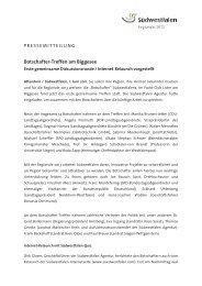 Botschafter-Treffen am Biggesee - die regionale 2013 - Südwestfalen