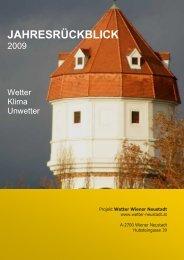 Jahresrückblick 2009 - Wetter Wiener Neustadt
