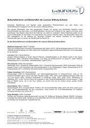 Botschafterinnen und Botschafter der Laureus Stiftung Schweiz (PDF)