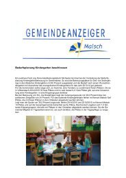 GA 21 -2013 - Gemeinde Malsch