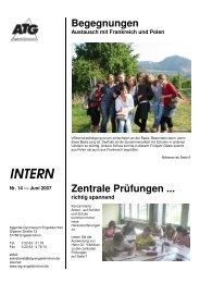 SCHULBRIEF Juni 2007 - Aggertal-Gymnasium