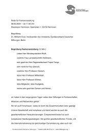 Rede für Festveranstaltung 08.05.2009 - VolkswagenStiftung : Seite ...