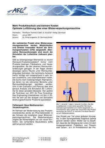 Mehr Produkteschutz und kleinere Kosten Optimale Luftführung ...