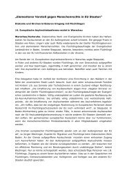 """""""Elementarer Verstoß gegen Menschenrechte in EU Staaten"""""""