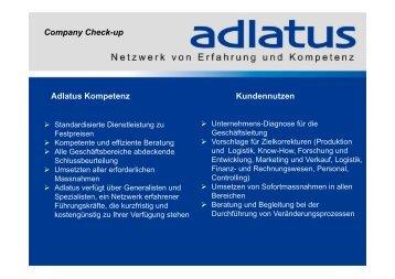 Adlatus Kompetenz Kundennutzen Company Check-up
