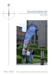 10 06 01 Gemeindebrief Juni 2010.indd - FeG-Nord
