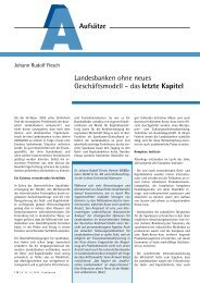 Aufsätze Landesbanken ohne neues Geschäftsmodell ... - Dr. Sievi