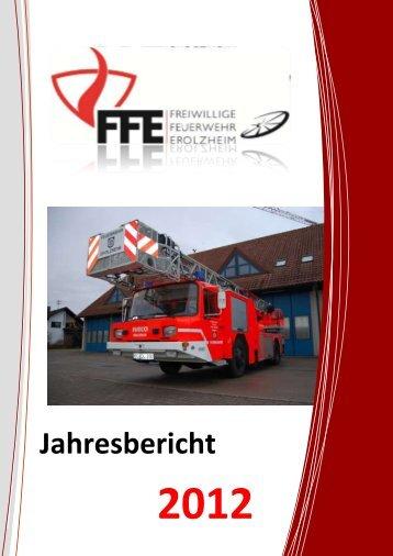 Jahresbericht FF Erolzheim 2012 ist online... - Freiwillige Feuerwehr ...