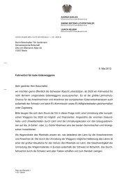 20130506 Brief an Schweizer Botschafter - Ulrich Kelber