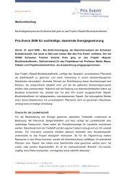 Prix Evenir 2006 für nachhaltige, dezentrale Energiegewinnung