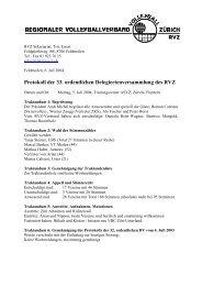 Protokoll der 33. ordentlichen Delegiertenversammlung des RVZ