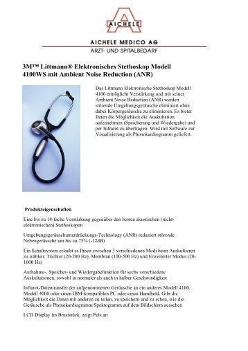 3M™ Littmann® Elektronisches Stethoskop Modell 4100WS mit ...