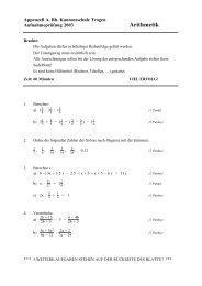AP Arithmetik 2003 - Kantonsschule Trogen