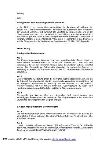Anhang zum Baureglement - Museums-Gesellschaft Grenchen
