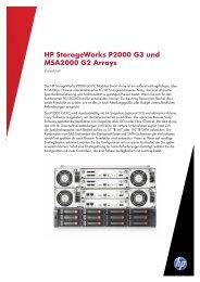 HP StorageWorks P2000 G3 und MSA2000 G2 Arrays Datenblatt