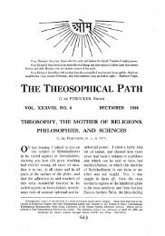 theosophy, the mother of religions, philosophies, and sciences