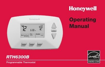 69-1723 - RTH6300B - Programmable Thermostat Operating Manual