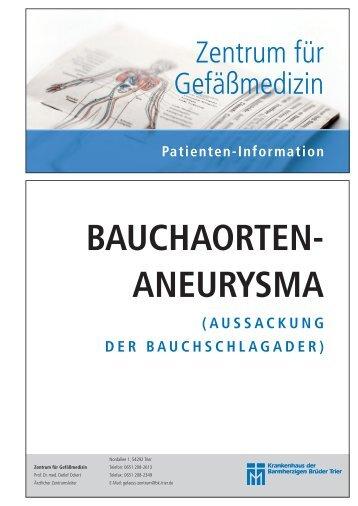BAUCHAORTEN- ANEURYSMA