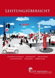 Leistungsübersicht - City Medien Leipzig