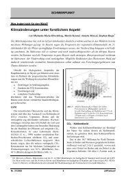 Klimaänderungen unter forstlichem Aspekt - Bayern