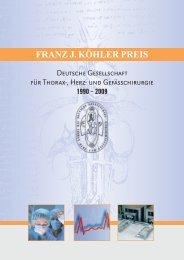 Broschüre Franz J. Köhler Preis - Dr. Franz Köhler Chemie GmbH