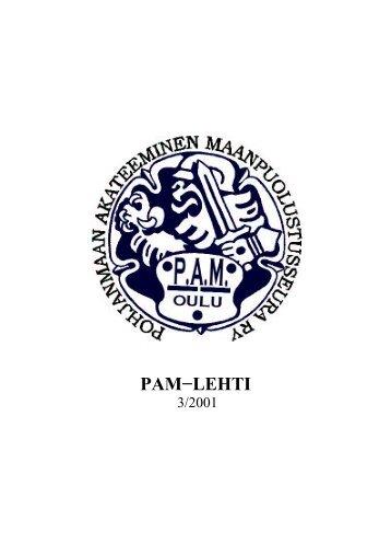PAM-lehti 3/2001 - Pohjanmaan Akateeminen Maanpuolustusseura ry