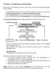 7. Evolution - Grundprinzipien und Grundfragen Bildung von ...