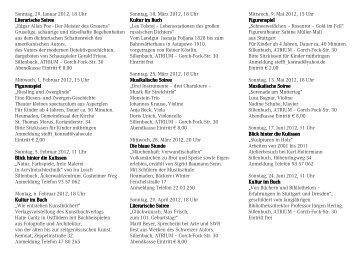 Sonntag, 29. Januar 2012, 18 Uhr Literarische ... - Kultur bei uns