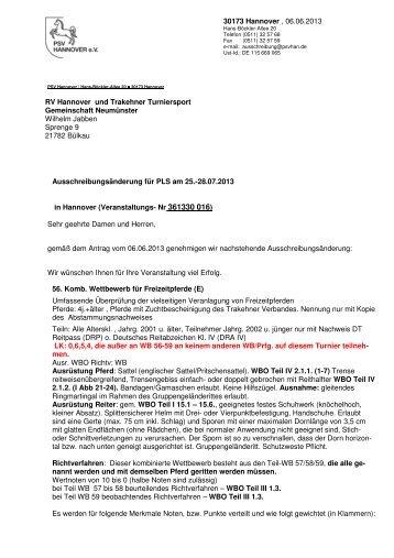 Ausschreibungsänderung 30016 Hannover Trak. - Cuxland-Data ...