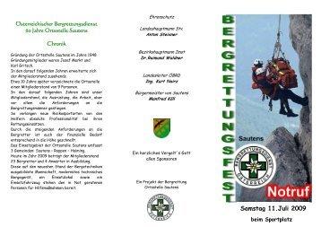 Einladung & Programm - Österreichischer Bergrettungsdienst