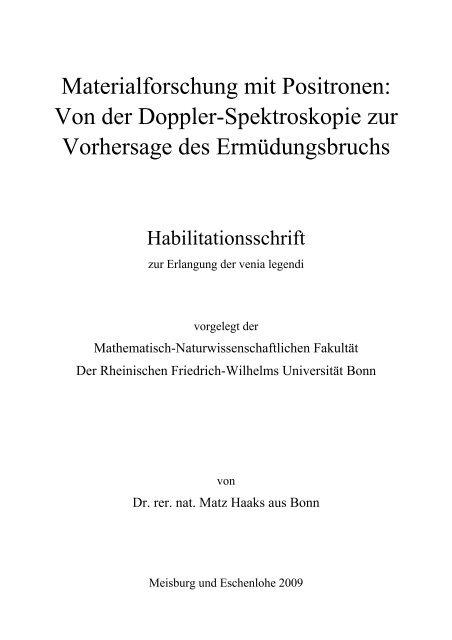 Materialforschung mit Positronen: Von der Doppler-Spektroskopie zur
