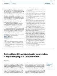 Telehealthcare til kronisk obstruktiv lungesygdom - Ugeskrift for Læger