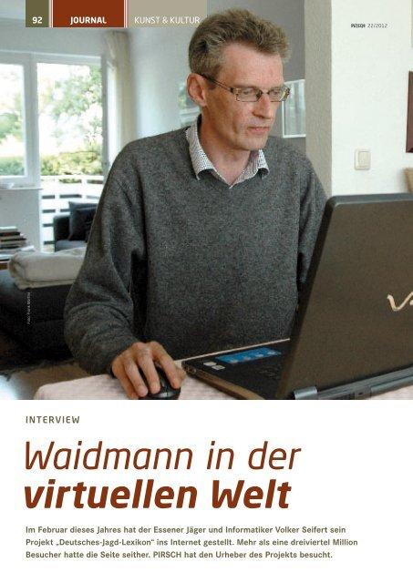 Waidmann in der virtuellen Welt - Deutsches Jagd Lexikon