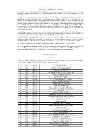 PORTARIA Nº 364, 22 DE MARÇO DE 2012(*). - Ministério da Saúde