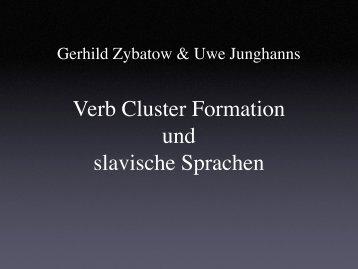 Verb Cluster Formation und slavische Sprachen