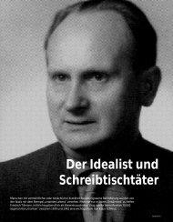 Der Idealist und Schreibtischtäter - Hinterland Magazin