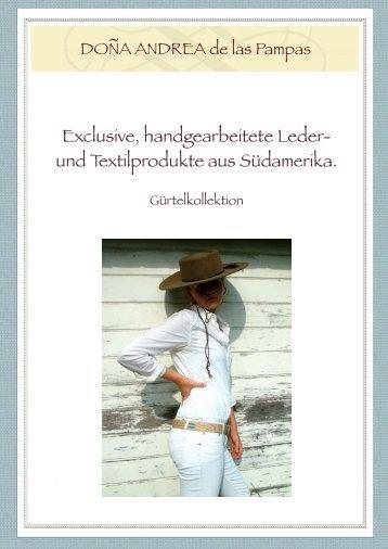 Exclusive, handgearbeitete Leder- und ... - DONA ANdrea de