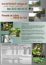 Download Flyer - Tierfriedhof Solingen