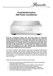 Produktinformation 948 Power Conditioner